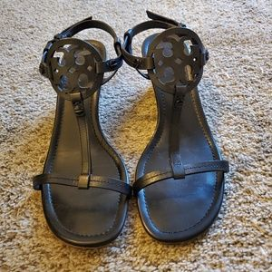 Black Tory Burch Miller wedges size 9